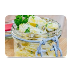 Potato salad in a jar on wooden Plate Mats