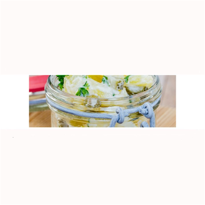 Potato salad in a jar on wooden Large Bar Mats