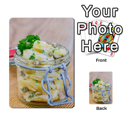 Potato salad in a jar on wooden Multi-purpose Cards (Rectangle)
