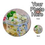 Potato salad in a jar on wooden Multi-purpose Cards (Round)  Back 9