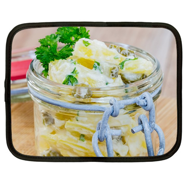 Potato salad in a jar on wooden Netbook Case (Large)