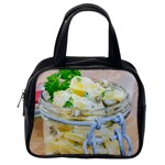 Potato salad in a jar on wooden Classic Handbags (One Side) Front