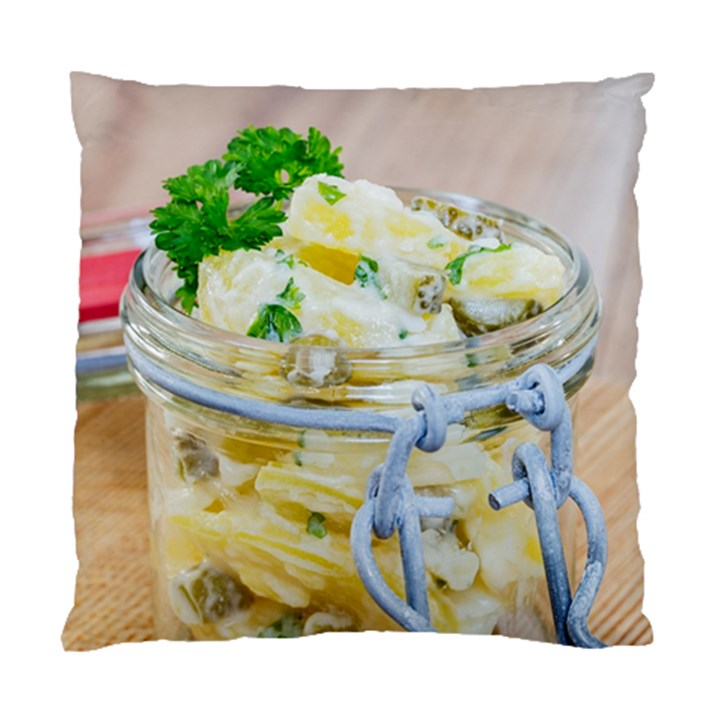 Potato salad in a jar on wooden Standard Cushion Case (One Side)