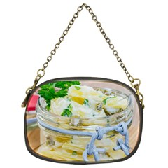 Potato salad in a jar on wooden Chain Purses (Two Sides)