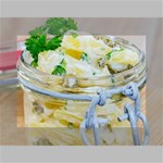 Potato salad in a jar on wooden Mini Canvas 7  x 5  7  x 5  x 0.875  Stretched Canvas