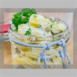 Potato salad in a jar on wooden Canvas 16  x 12  16  x 12  x 0.875  Stretched Canvas
