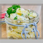 Potato salad in a jar on wooden Canvas 20  x 16  20  x 16  x 0.875  Stretched Canvas