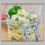 Potato salad in a jar on wooden Canvas 24  x 20  24  x 20  x 0.875  Stretched Canvas