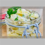 Potato salad in a jar on wooden Canvas 18  x 12  18  x 12  x 0.875  Stretched Canvas