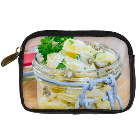 Potato salad in a jar on wooden Digital Camera Cases