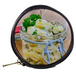 Potato salad in a jar on wooden Mini Makeup Bags Back