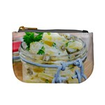Potato salad in a jar on wooden Mini Coin Purses Front