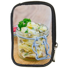 Potato salad in a jar on wooden Compact Camera Cases