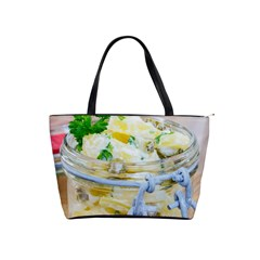 Potato Salad In A Jar On Wooden Shoulder Handbags