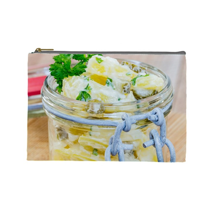 Potato salad in a jar on wooden Cosmetic Bag (Large)