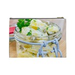 Potato salad in a jar on wooden Cosmetic Bag (Large)  Back