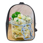 Potato salad in a jar on wooden School Bags(Large)  Front