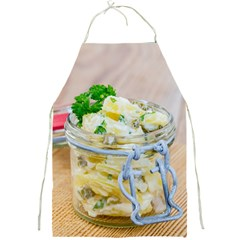 Potato salad in a jar on wooden Full Print Aprons