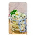 Potato salad in a jar on wooden Memory Card Reader Front
