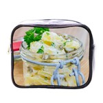 Potato salad in a jar on wooden Mini Toiletries Bags Front