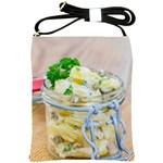 Potato salad in a jar on wooden Shoulder Sling Bags Front