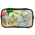 Potato salad in a jar on wooden Toiletries Bags Front