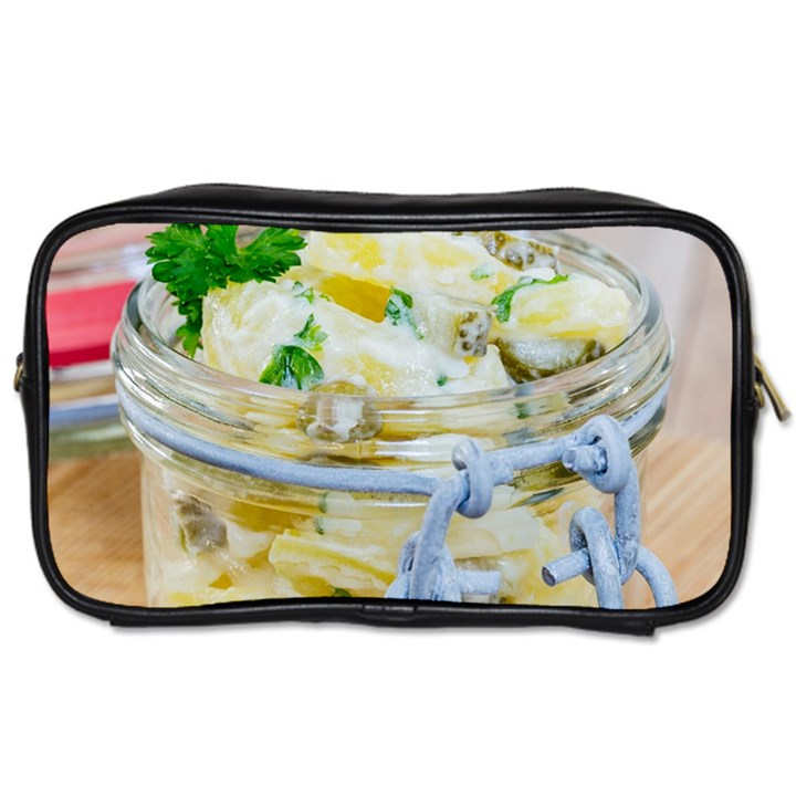 Potato salad in a jar on wooden Toiletries Bags 2-Side