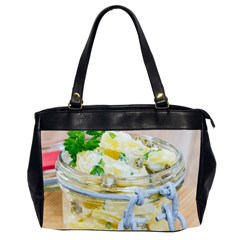 Potato Salad In A Jar On Wooden Office Handbags (2 Sides)