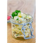 Potato salad in a jar on wooden 5.5  x 8.5  Notebooks Front Cover