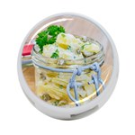 Potato salad in a jar on wooden 4-Port USB Hub (Two Sides)  Front
