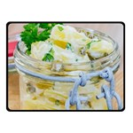 Potato salad in a jar on wooden Fleece Blanket (Small) 50 x40 Blanket Front