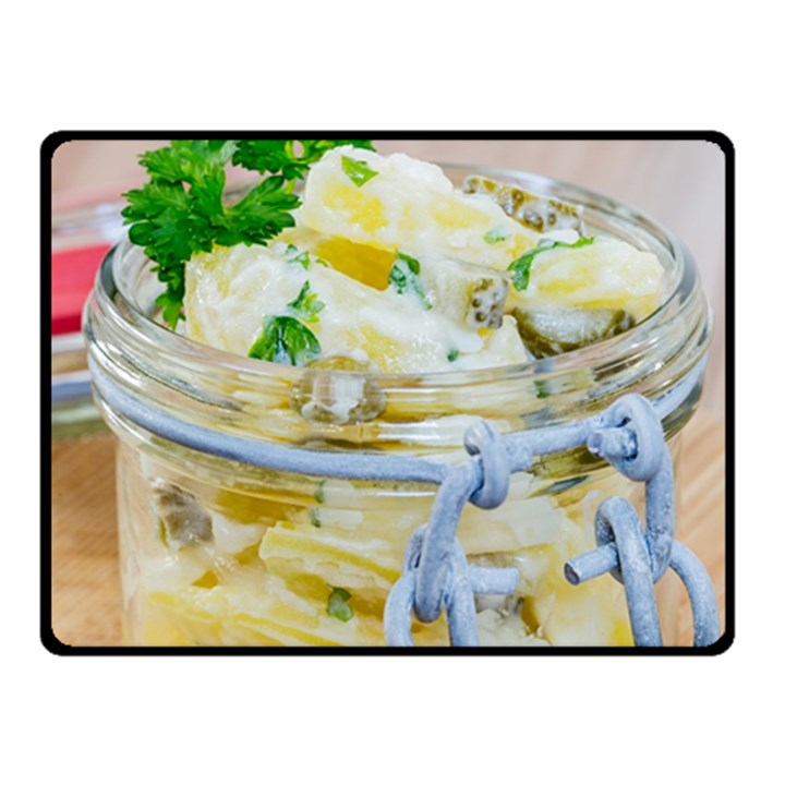 Potato salad in a jar on wooden Fleece Blanket (Small)