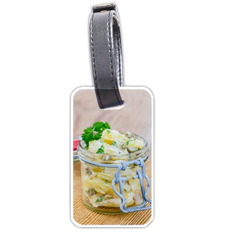 Potato salad in a jar on wooden Luggage Tags (Two Sides)