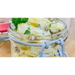 Potato salad in a jar on wooden Magic Photo Cubes Long Side 3