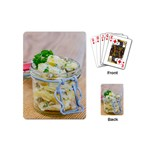 Potato salad in a jar on wooden Playing Cards (Mini)  Back