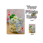 Potato salad in a jar on wooden Playing Cards 54 (Mini)  Front - Diamond2