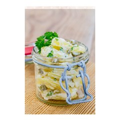 Potato salad in a jar on wooden Shower Curtain 48  x 72  (Small)