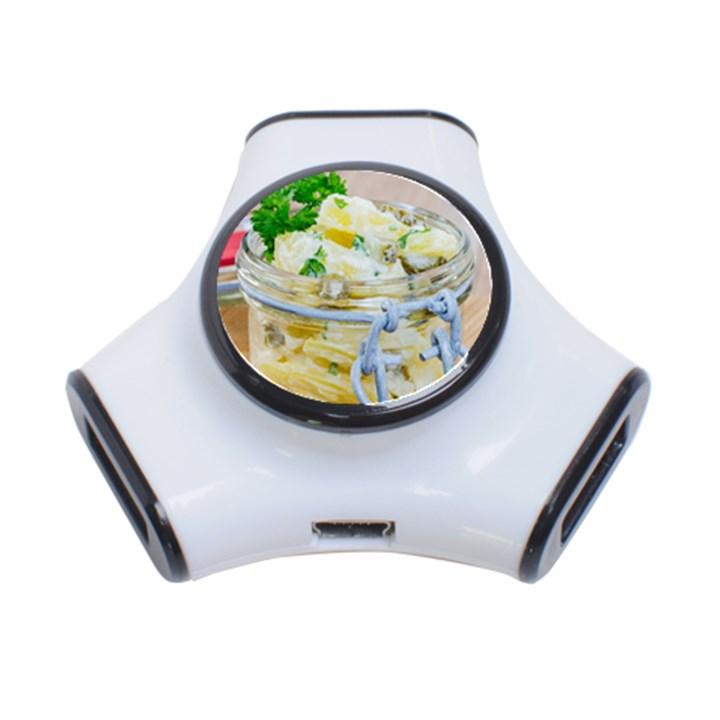 Potato salad in a jar on wooden 3-Port USB Hub