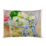 Potato salad in a jar on wooden Pillow Case (Two Sides) Back
