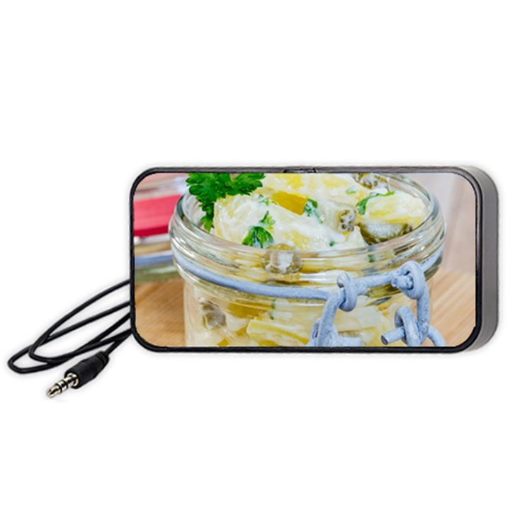 Potato salad in a jar on wooden Portable Speaker (Black)