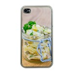 Potato salad in a jar on wooden Apple iPhone 4 Case (Clear) Front