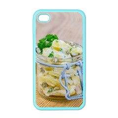 Potato salad in a jar on wooden Apple iPhone 4 Case (Color)