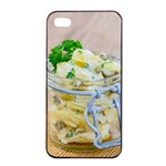 Potato salad in a jar on wooden Apple iPhone 4/4s Seamless Case (Black) Front