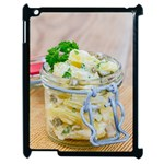Potato salad in a jar on wooden Apple iPad 2 Case (Black) Front