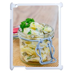 Potato Salad In A Jar On Wooden Apple Ipad 2 Case (white)