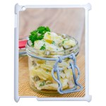 Potato salad in a jar on wooden Apple iPad 2 Case (White) Front