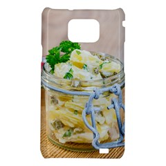 Potato salad in a jar on wooden Samsung Galaxy S2 i9100 Hardshell Case