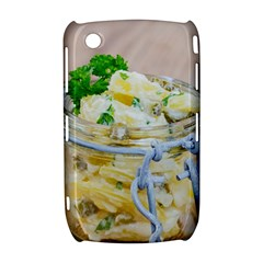 Potato salad in a jar on wooden Curve 8520 9300