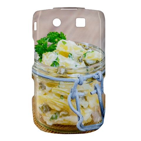 Potato salad in a jar on wooden Torch 9800 9810