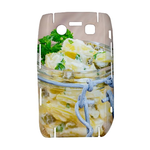 Potato salad in a jar on wooden Bold 9700